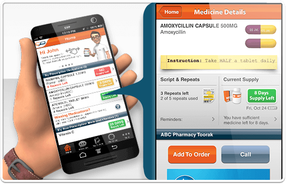 MedAdvisor's home screen